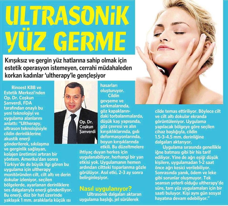 Ultrasonik Yüz Gençleştirme