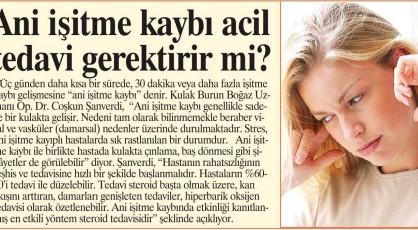 Kulak Çınlaması ve İşitme Kaybı, Kbb Hastanesi İstanbul