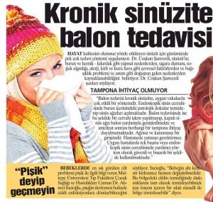 balonla sinüzit tedavisi, kronik sinüzit ameliyatı