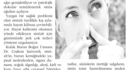 İstanbulda Sinüzit Tedavi Merkezi, Sinüzit Doktoru